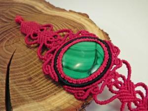 rotes Armband mit Malachit