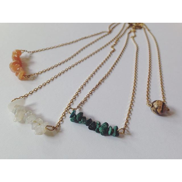 tiny crystal necklaces  #crystal #tiny #tinythings #crystalnecklace #bohostyle #bohemian
