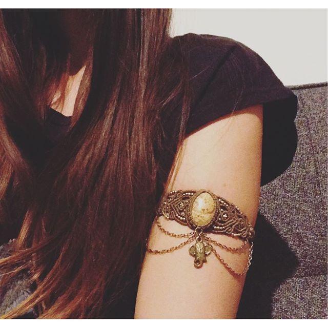 New upper arm bracelet  #elephant #upperarm #upperarmjewelry #bohostyle #coachella #macramejewelry #macrameart