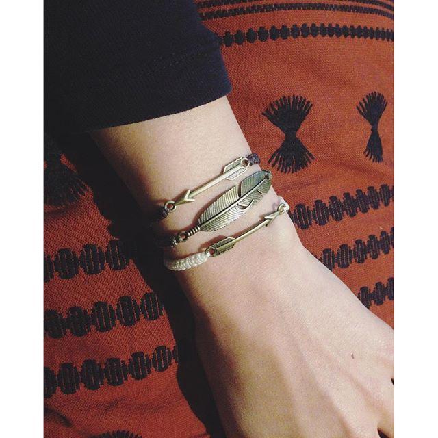 ↠《 sweet new arrow bracelet 》↞ #bohemian #bohostyle #tinythings #arrow #arrowbracelet