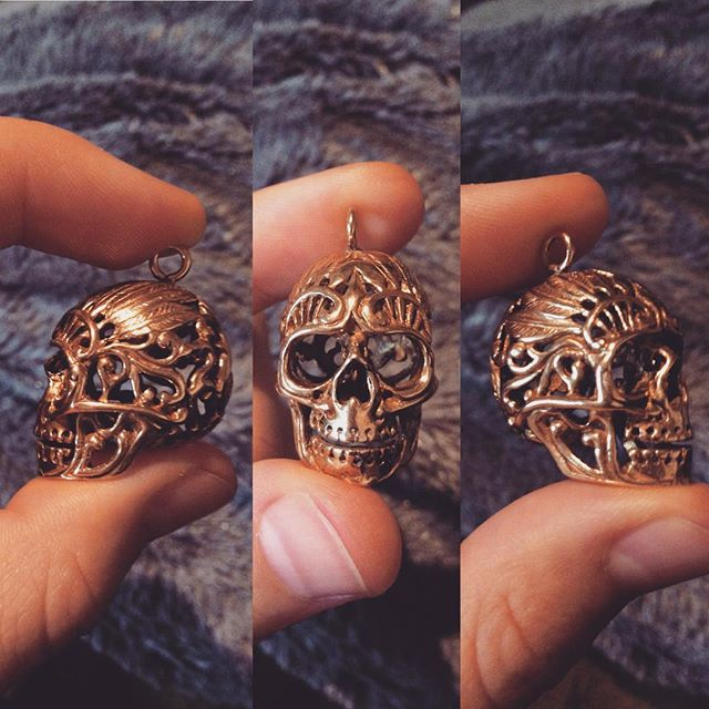 New parts for jewelry  #skull #brassskull #supplies #newstuff #joymade #letsdosomethingwonderful
