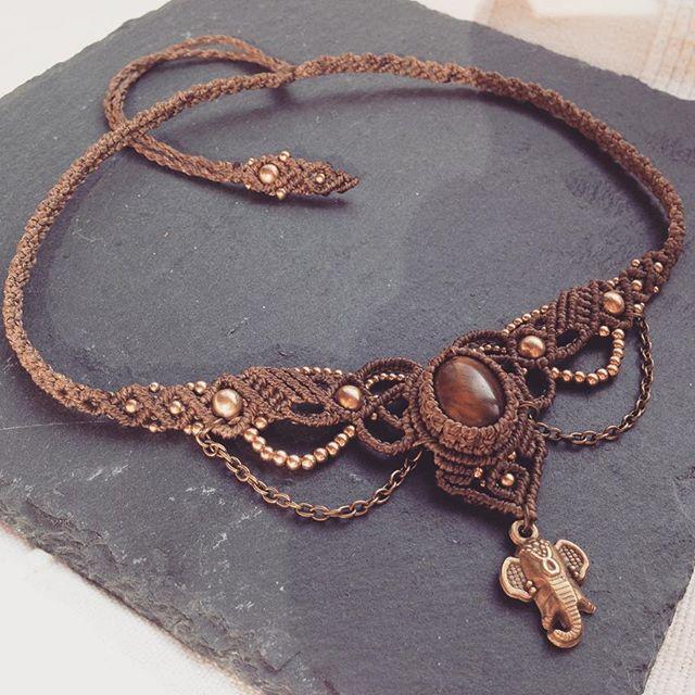 Wunschanfertigung für die liebe Jana #macrameart #macramejewelry #macralove #macramenecklace #costumerswish